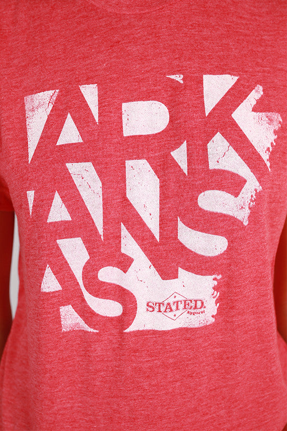 Arkansas Typography Tee