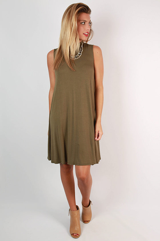 Sipping Bubbly Shift Dress in Sage
