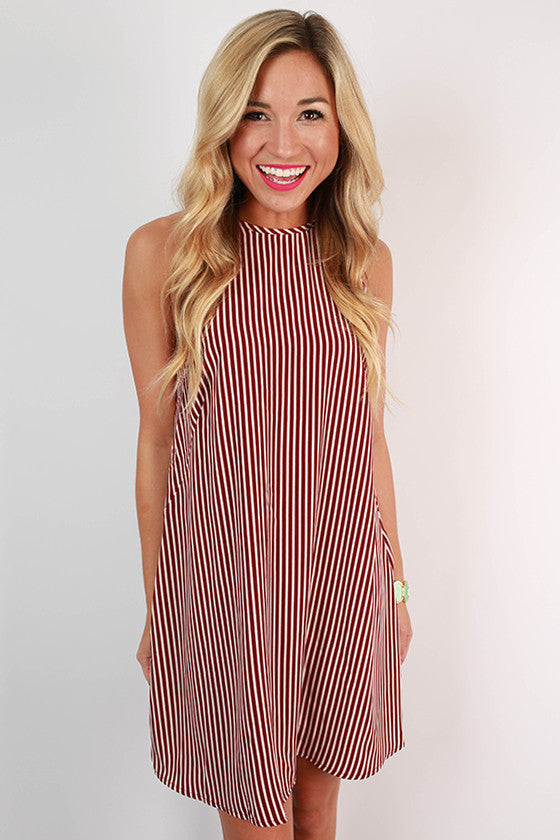 Wine & Dine Stripe Shift Dress