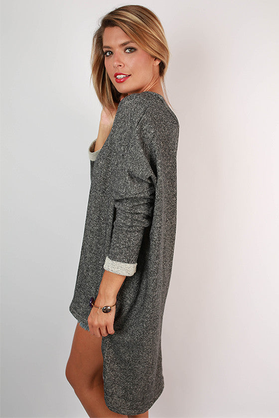 Cozy Comfort Boyfriend Terry Tunic in Grey