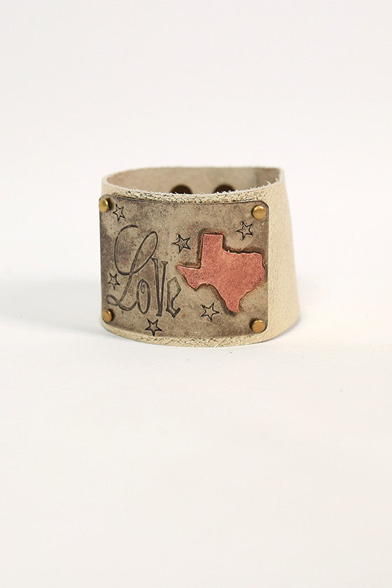 Louisiana Leather Cuff