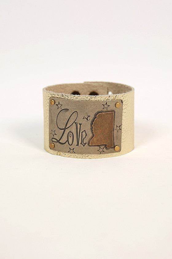 Mississippi Leather Cuff