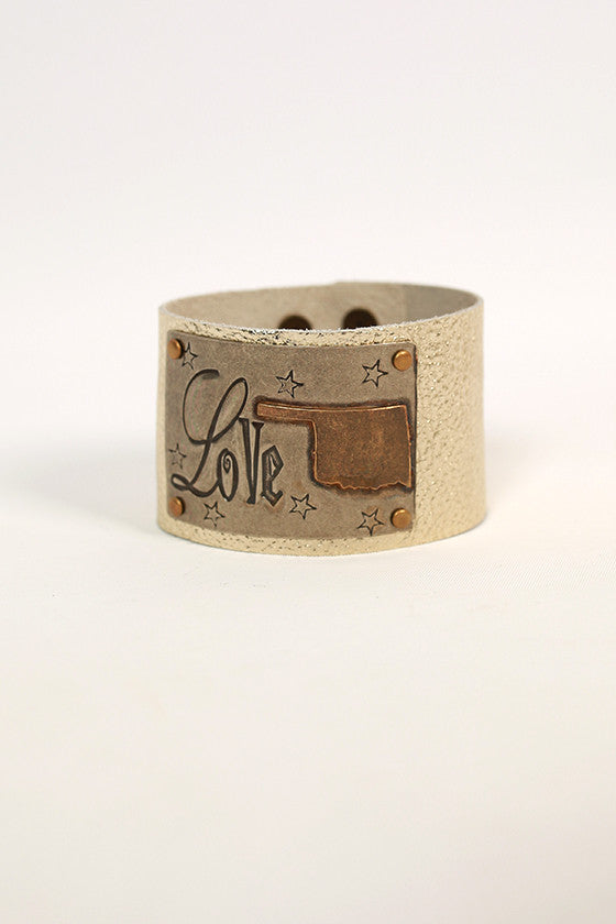 Oklahoma Leather Cuff