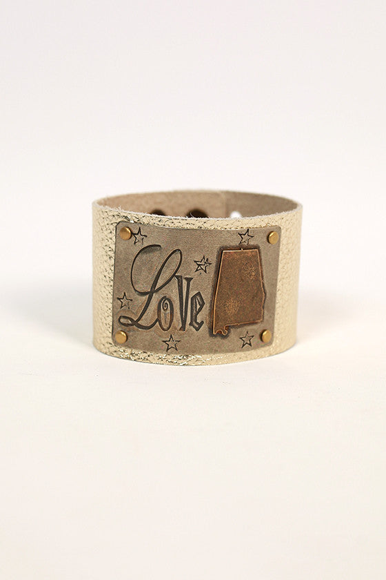 Alabama Leather Cuff