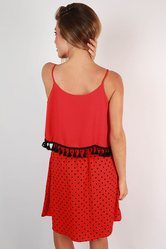 Dream Team Polka Dot Dress in Red