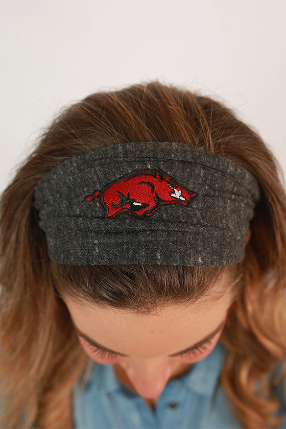 Razorback Headband in Charcoal