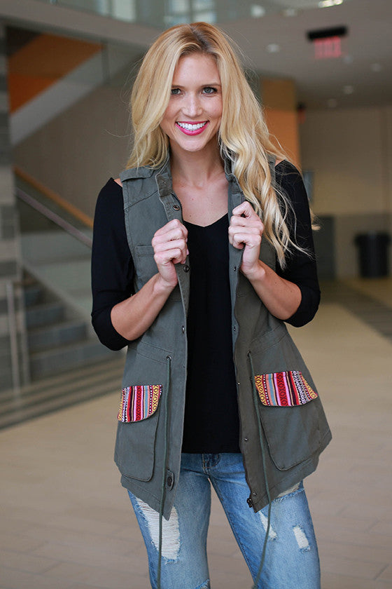 Afternoon Delight Vest in Sage