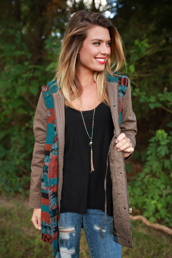 Warm Wishes Jacket in Army Green