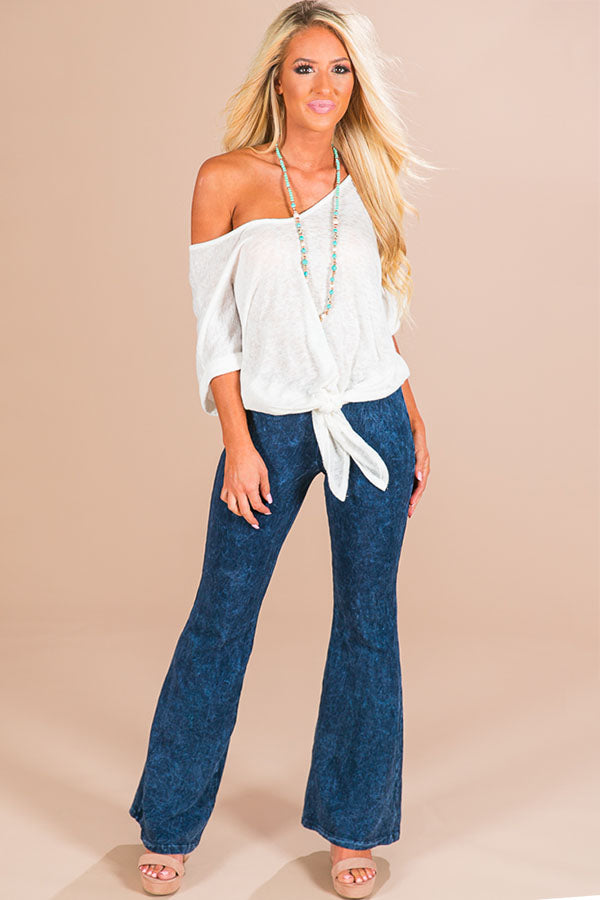 All The Stops Flare Pants in Cobalt Blue