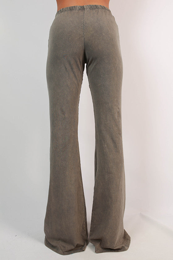 All The Stops Flare Pants in Taupe