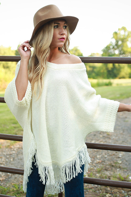 Morning Frost Sweater in Ivory