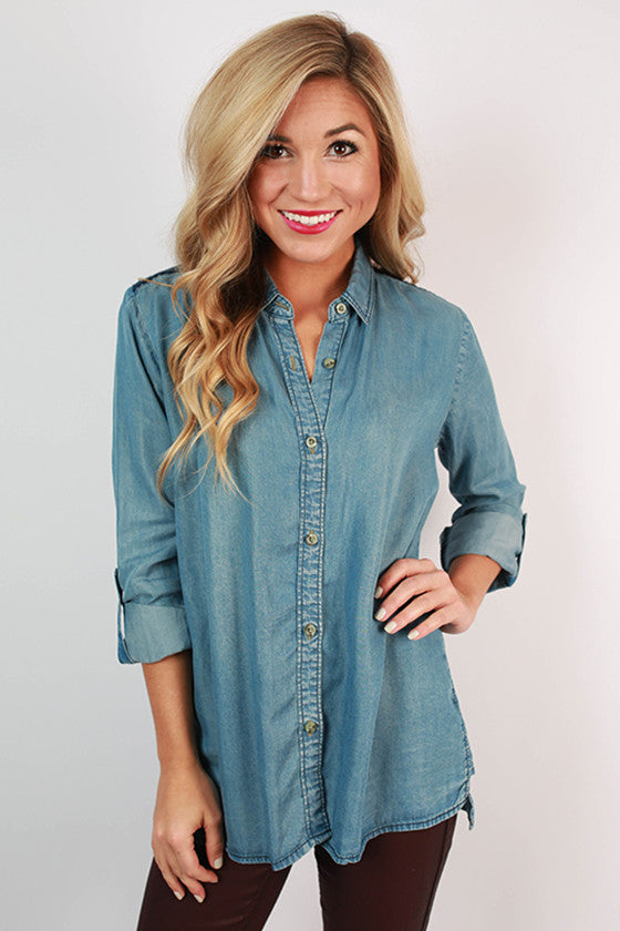 Something Southern Button Up Top