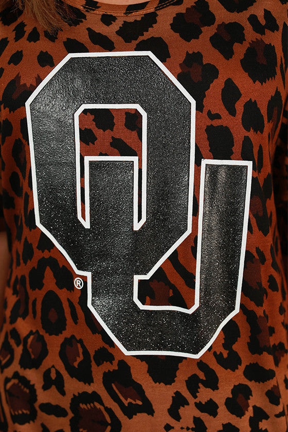 University of Oklahoma Leopard Tee