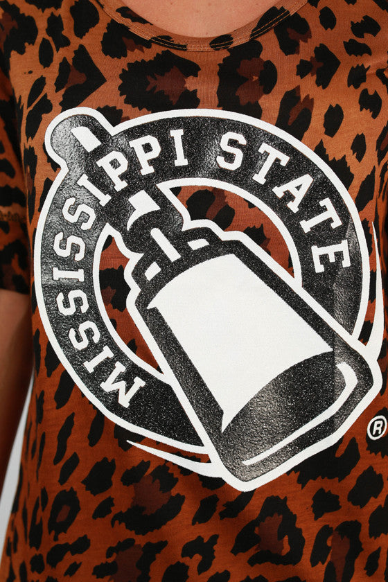 Mississippi State University Leopard Tee