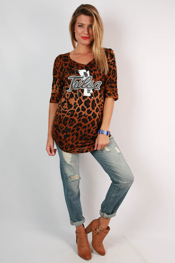 University of Tulsa Leopard Tee