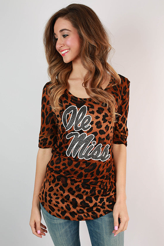 University of Mississippi Leopard Tee