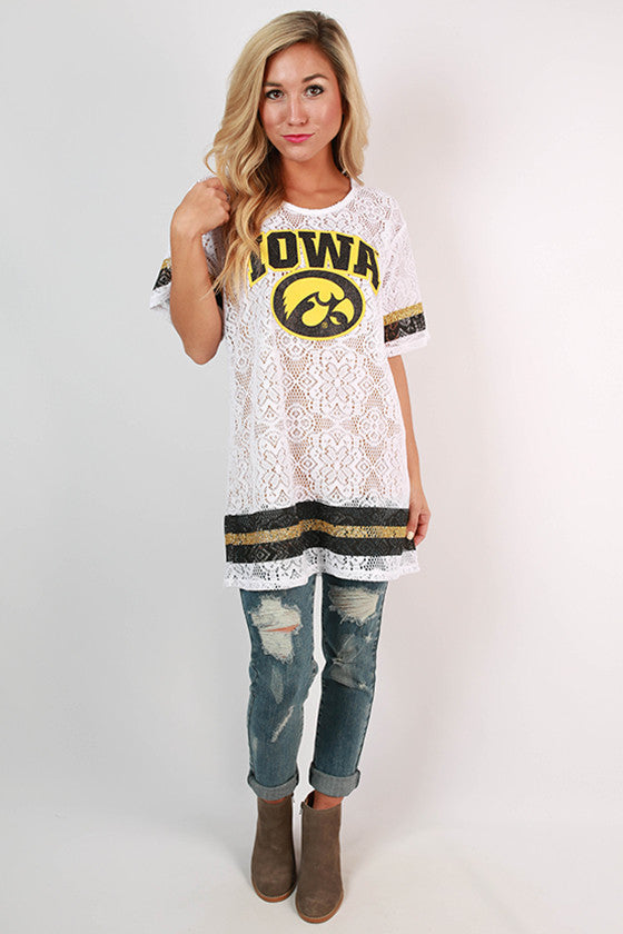 University of Iowa Lace Jersey