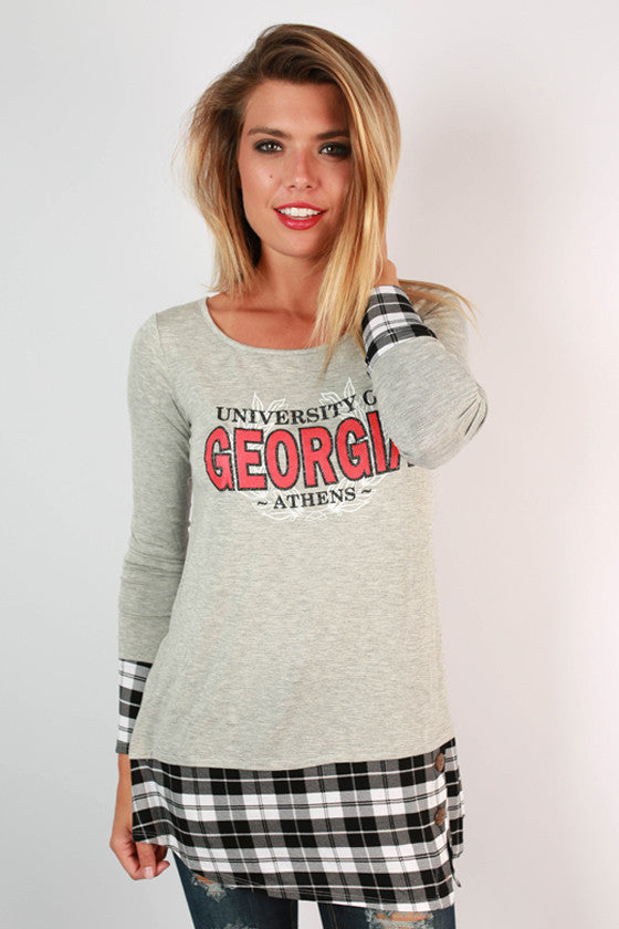 University of Georgia Plaid Tunic
