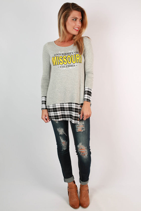 University of Missouri Plaid Tunic
