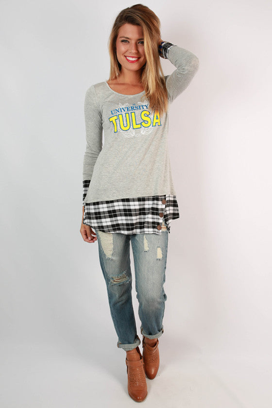 University of Tulsa Plaid Tunic