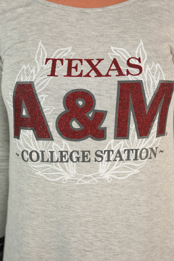 Texas A & M Plaid Tunic