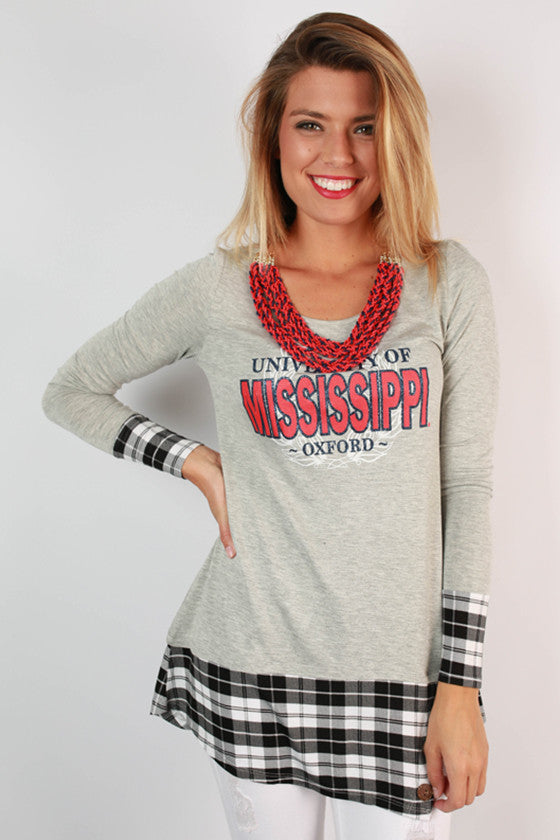University of Mississippi Plaid Tunic