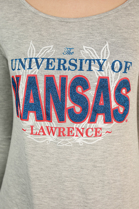 University of Kansas Plaid Tunic