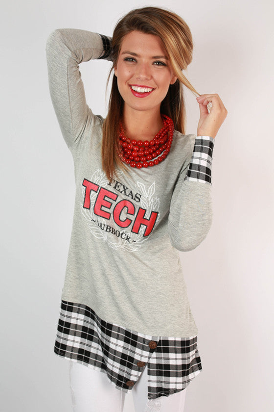 Texas Tech University Plaid Tunic