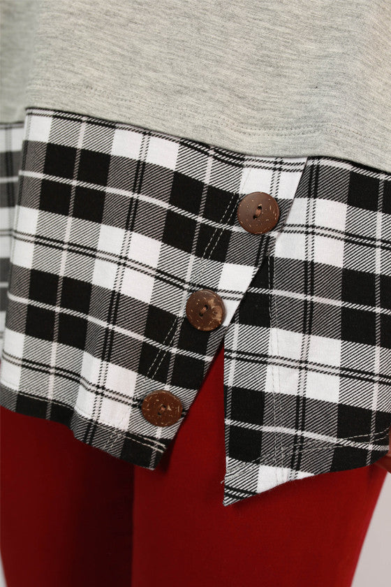 Florida State University Plaid Tunic