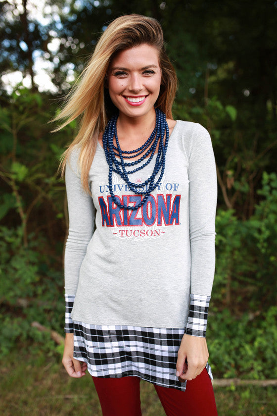 University Of Arizona Plaid Tunic