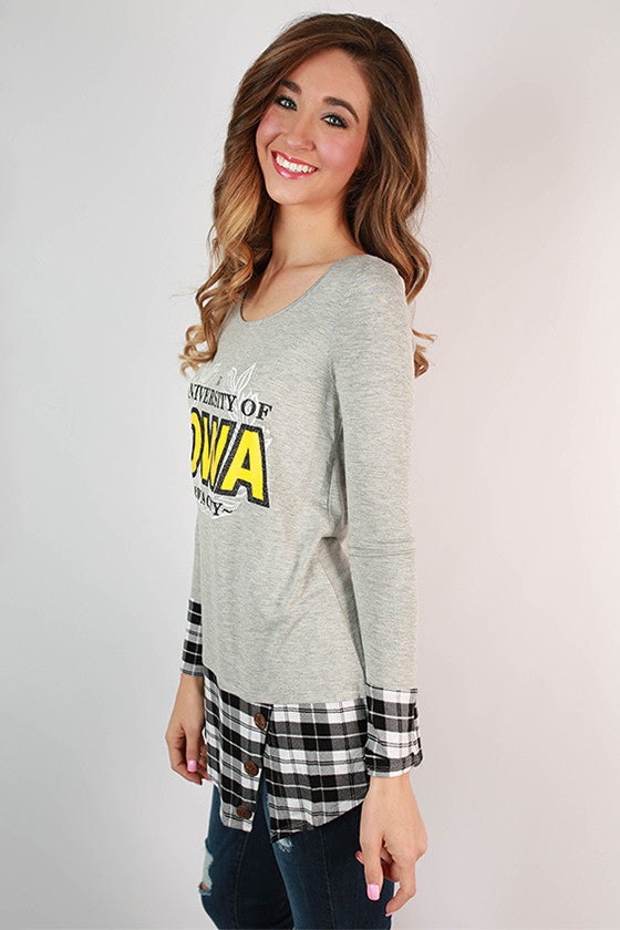 University Of Iowa Plaid Tunic