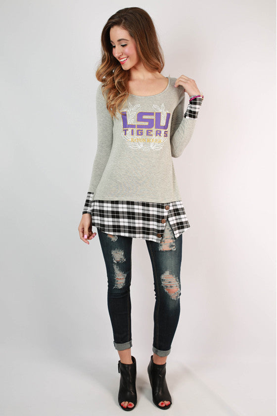 Louisiana State University Plaid Tunic
