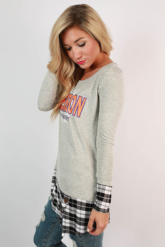 Clemson University Plaid Tunic
