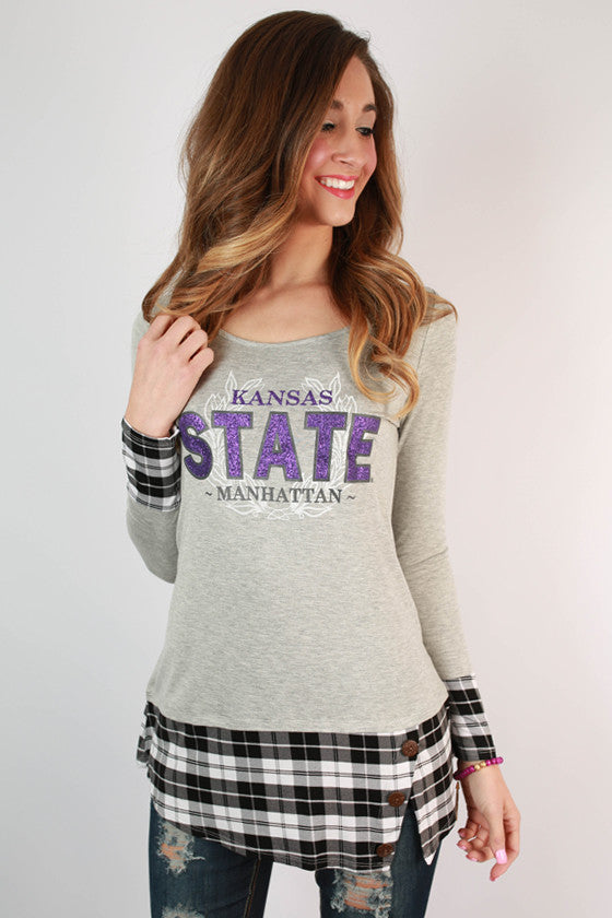 Kansas State University Plaid Tunic