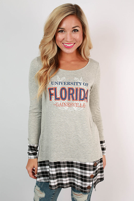 University Of Florida Plaid Tunic