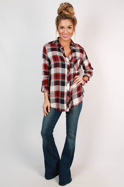 Backroad Plaid Button Up Top Impressions Online Women S