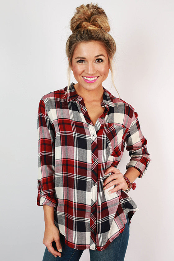Backroad Plaid Button Up Top