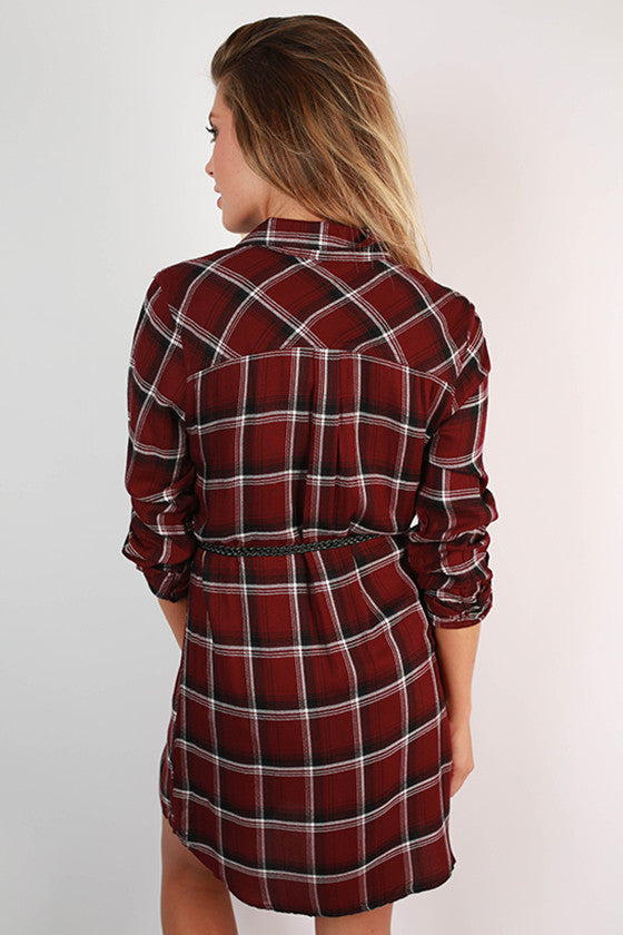 Well Traveled Plaid Dress