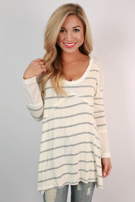 Snuggles Galore Stripe Top