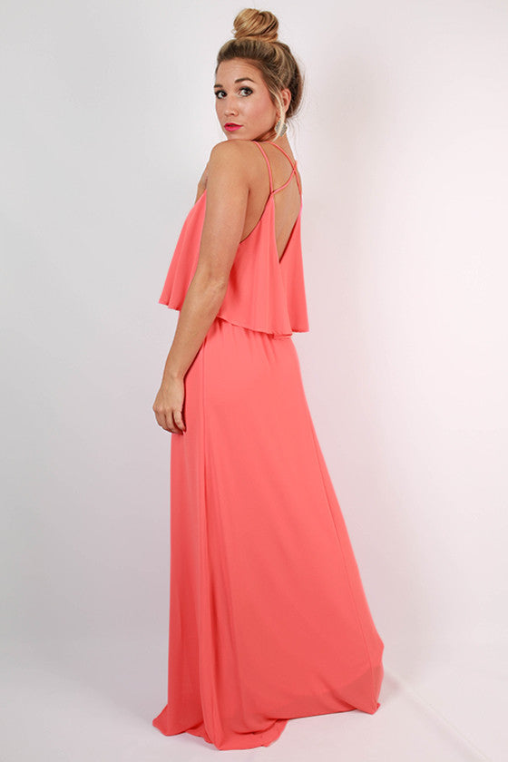 Brunch & Peonies Maxi Dress in Calypso