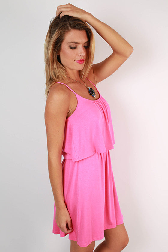 Brunch Hour Layered Dress in Pink