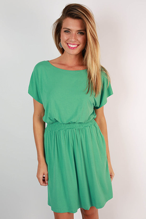 PIKO Chic Dress in Turquoise