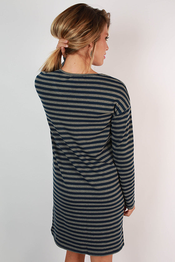 Cheers to Stripes Dress in Navy