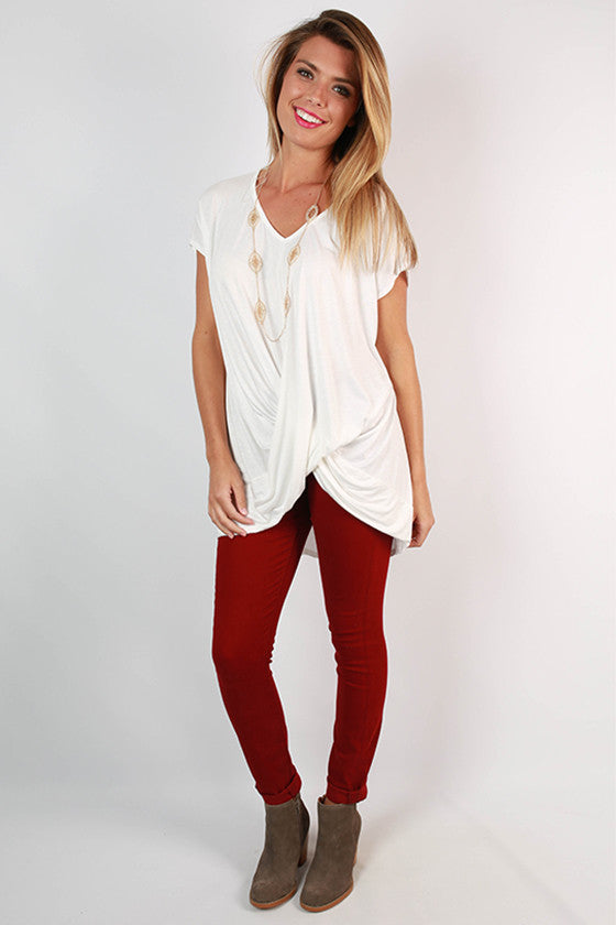 Chic Daydreamer Tunic in Ivory