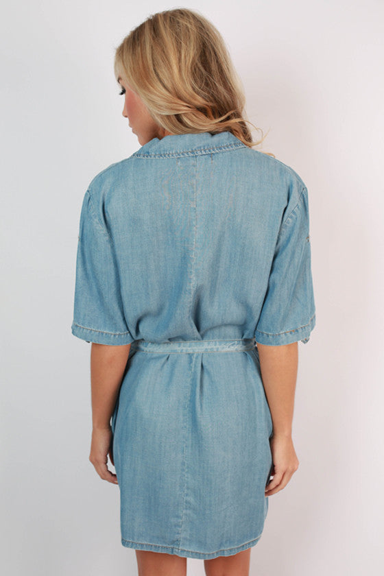 Southern Blues Chambray Dress