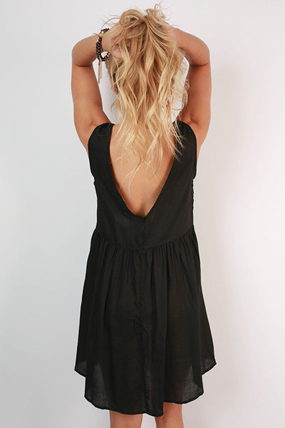 Girl's Best Friend Tank Dress in Black