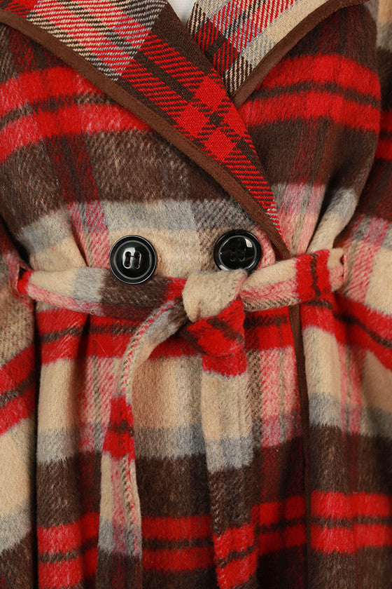 Weekend in Tahoe Faux Fur Poncho in Tan