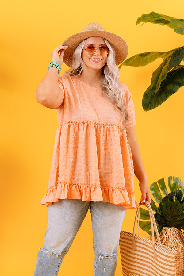 Piers And Cheers Shift Top In Peach