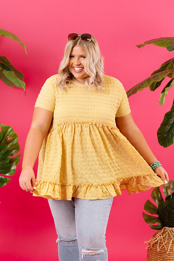 Piers And Cheers Shift Top In Yellow