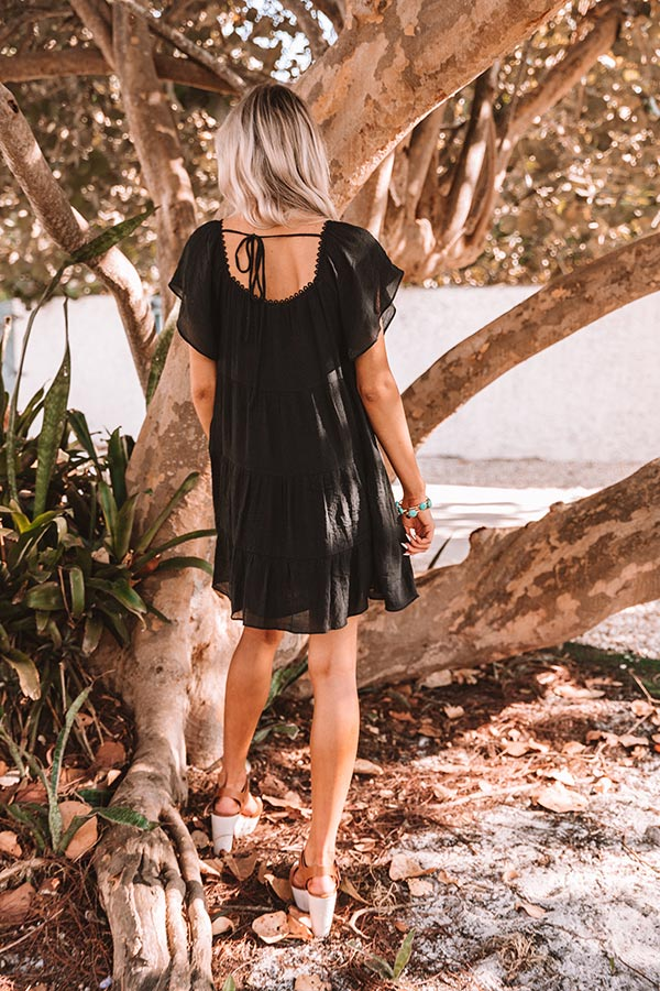 Holding Onto Hope Shift Dress in Black